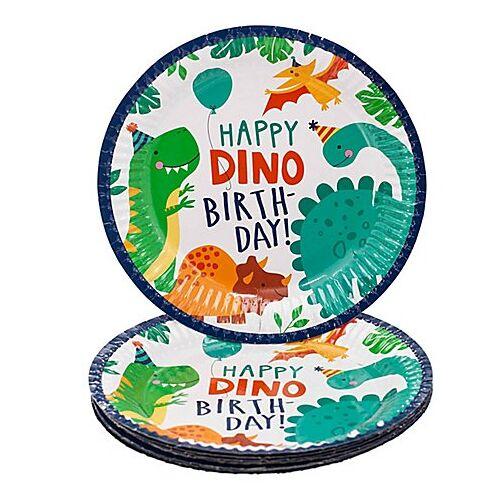 """Pappteller """"Dino"""",  Ø 23 cm, 8 Stück"""