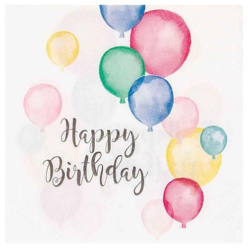 """Papierserviette """"Happy Birthday"""", 33 x 33 cm, 20 Stück"""
