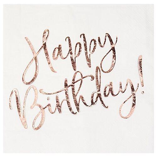 """Papierserviette """"Birthday"""", 33 x 33 cm, 20 Stück"""