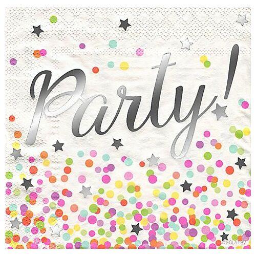 """Papierservietten """"Party!"""", 33 x 33 cm, 16 Stück"""