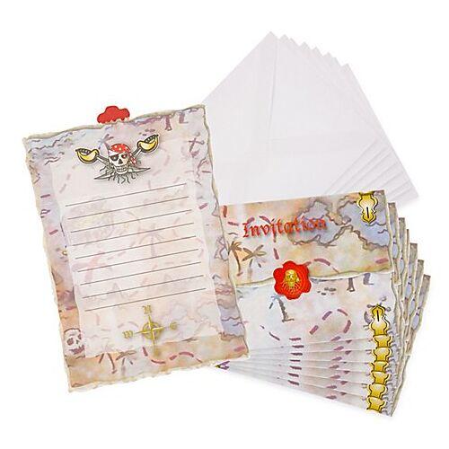 """Einladung """"Pirat"""", 8 Stück"""