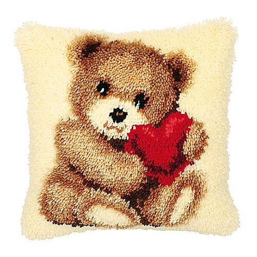 "Knüpfkissen ""Teddybär"""