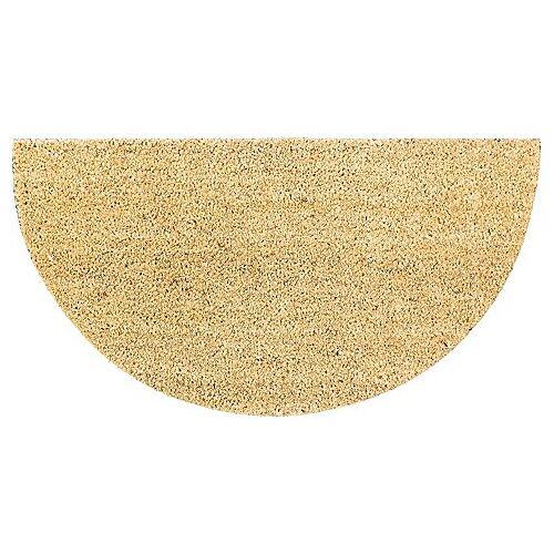 """Kokos-Fußmatte """"Halbrund"""", 40 x 75 cm"""