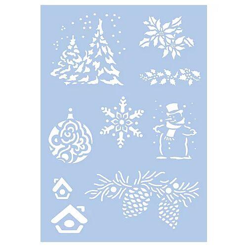 """Schablone """"Weihnachten"""", 21 x 29,7 cm"""