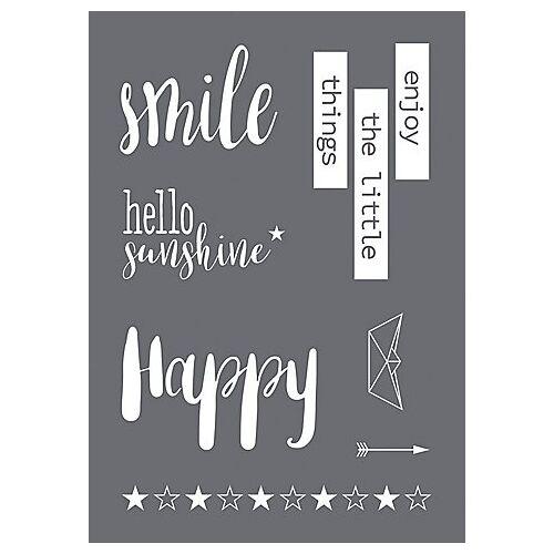 """Rayher Siebdruck-Schablone """"Smile"""""""
