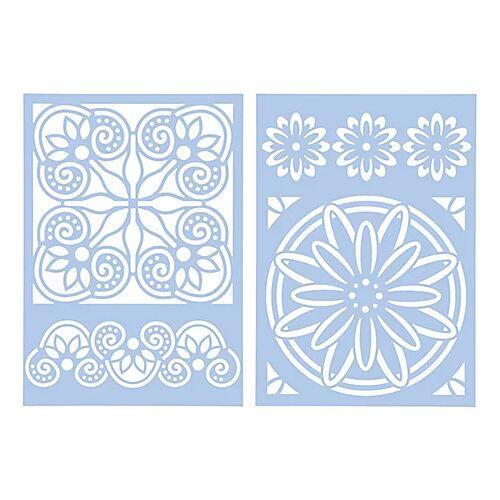 """Schablonen-Set """"Fliese 2"""", 13,5 x 13,5 cm und 4 x 14,5 cm"""