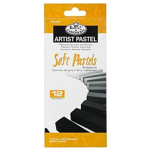 Soft-Pastellkreiden-Set, Grautöne