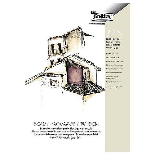 Folia Schul-Aquarellblock DIN A4, 10 Blatt