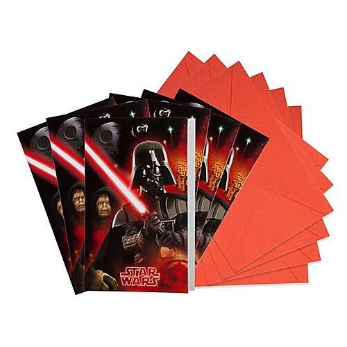 """Einladung """"Star Wars"""", 6 Stück"""