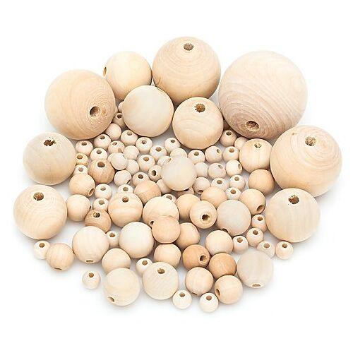 Holzkugeln, 10 - 50 mm Ø, 100 Stück