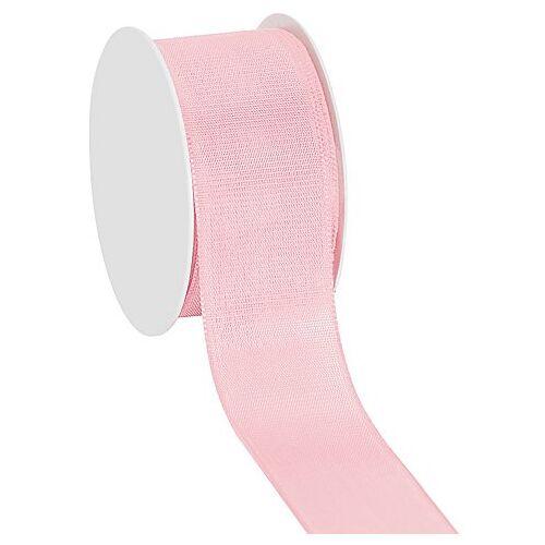 Stoffband, rosa, 40 mm, 10 m