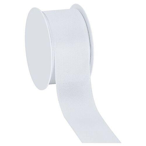 Stoffband, weiß, 40 mm, 10 m