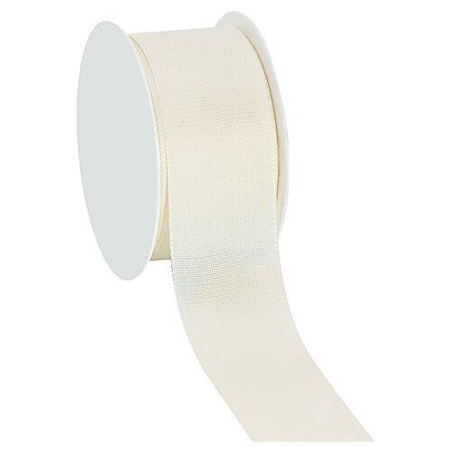 Stoffband, creme, 40 mm, 10 m