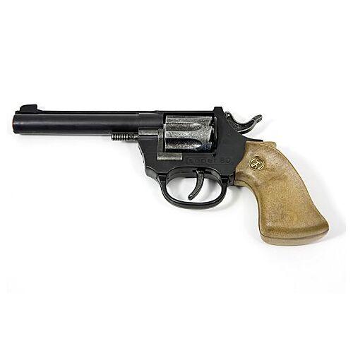"""Braun Spielzeugpistole """"Cowboy"""", schwarz/braun/silber"""