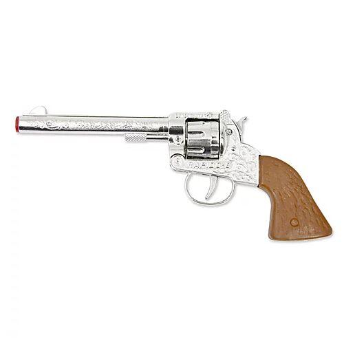 Braun Spielzeugpistole Cowboy, silber/braun