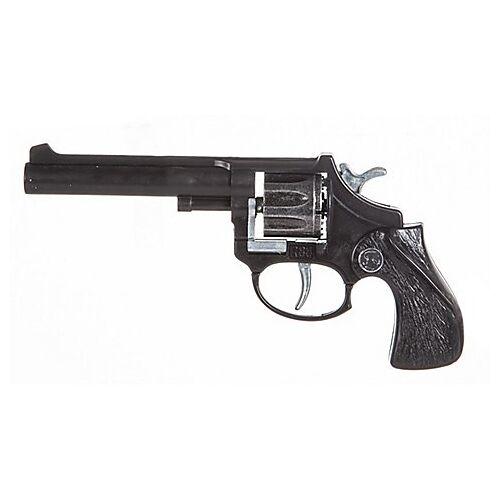Spielzeugpistole Cowboy, schwarz/grau