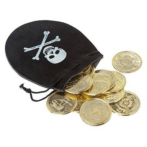 Beutel Pirat mit Münzen