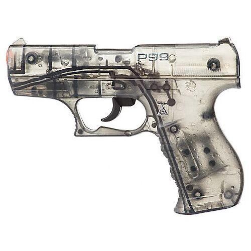 Spielzeugpistole Agent, schwarz/transparent