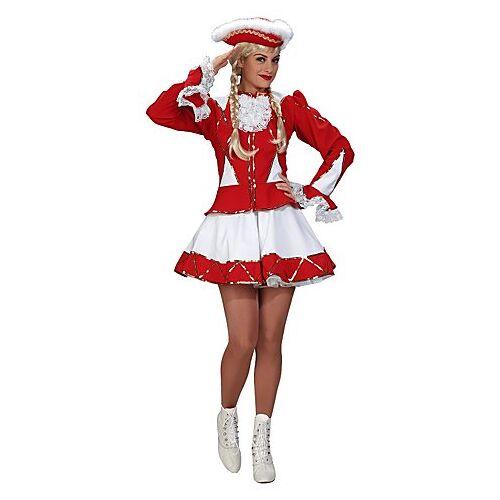 Gardekostüm für Damen, rot/weiß