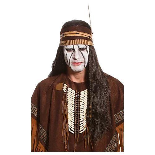 Perücke Indianer, schwarz