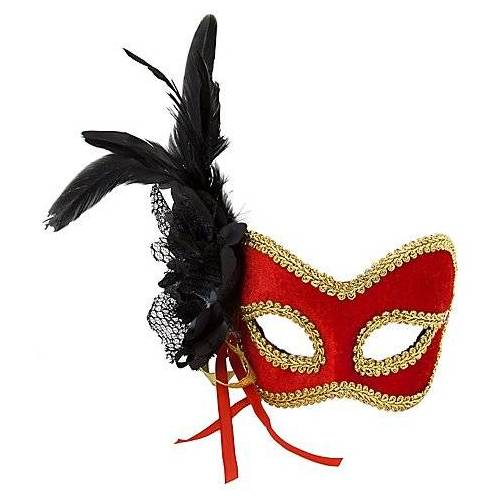"Venezianische Maske ""Red Diva"""