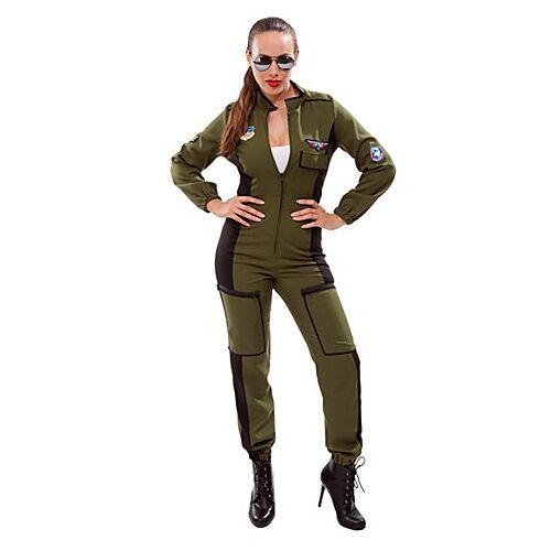 Overall Kampfflieger für Damen, olivgrün