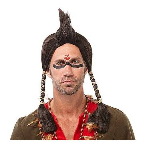 "Braun Indianerperücke ""Irokese"", braun"