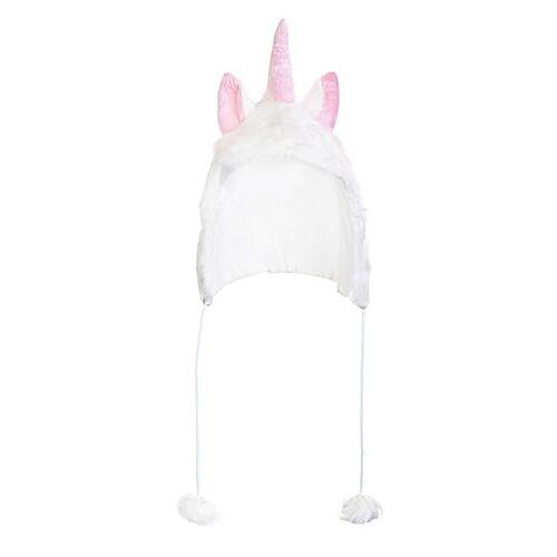 Einhorn Mütze, weiß/rosa
