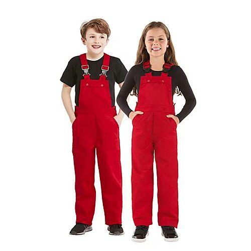 Latzhose für Kinder, rot