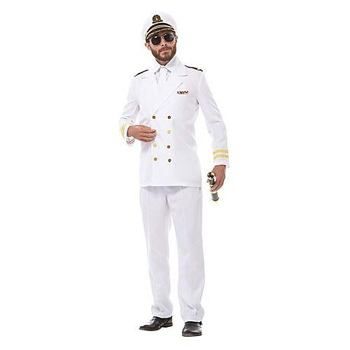 Kapitän Kostüm für Herren, weiß