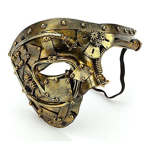 """Steampunk-Maske """"Future"""", gold"""