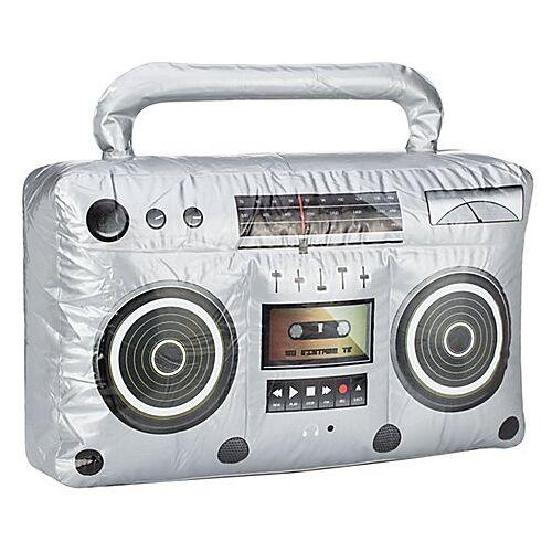 Aufblasbares Radio, silber