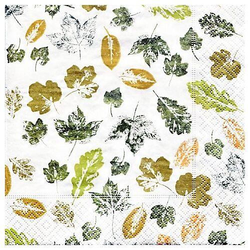 """Papierservietten """"Blätter"""", 33 x 33 cm, 20 Stück"""