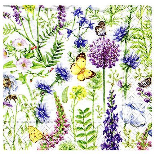"""Papierservietten """"Frühlingswiese"""", 33 x 33 cm, 20 Stück"""