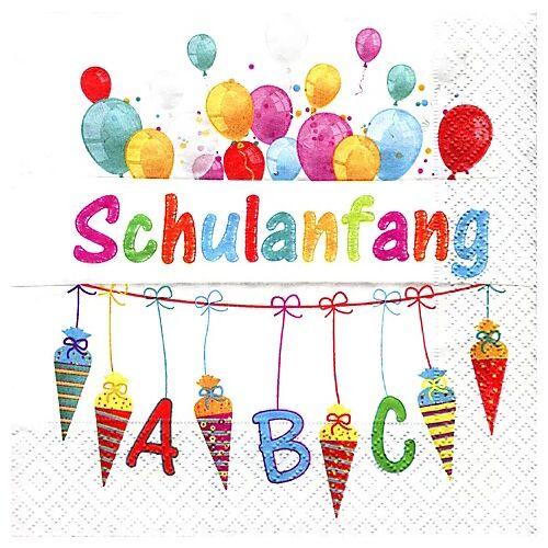 """Papierservietten """"Schulanfang"""", 33 x 33 cm, 20 Stück"""