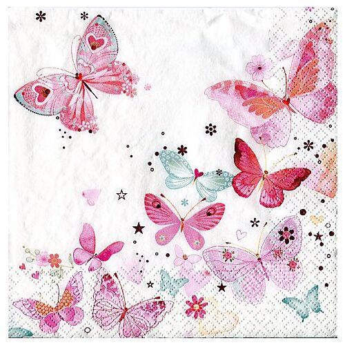"""Papierserviette """"Schmetterlinge"""", 33 x 33 cm, 20 Stück"""