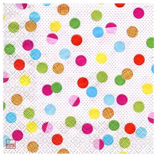 "Papierservietten ""Bunte Punkte"", 33 x 33 cm, 20 Stück"