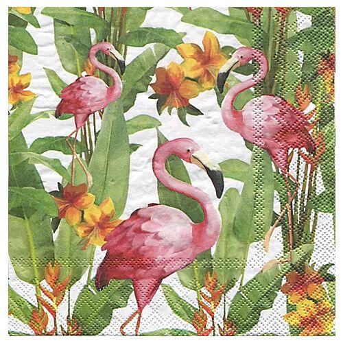 """Papierservietten """"Flamingos"""", 33 x 33 cm, 20 Stück"""