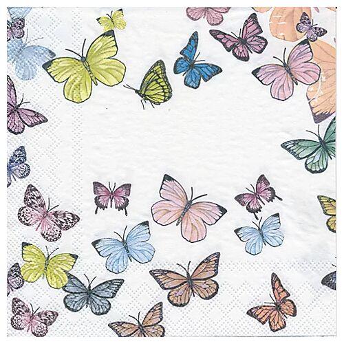 """Papierservietten """"Schmetterlinge pastell"""", 33 x 33 cm, 20 Stück"""