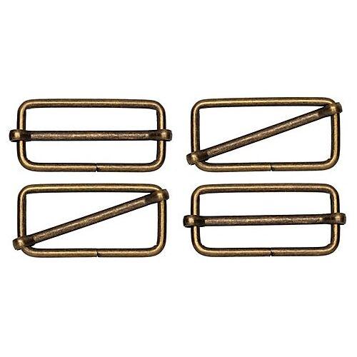 buttinette Leiterschnallen, altmessing, für 40 mm breite Bänder, 4 Stück