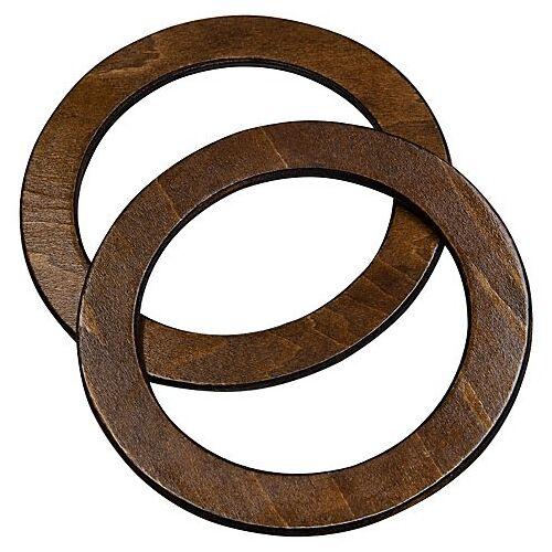 Taschengriffe aus Holz, 13,5 cm Ø, 1 Paar