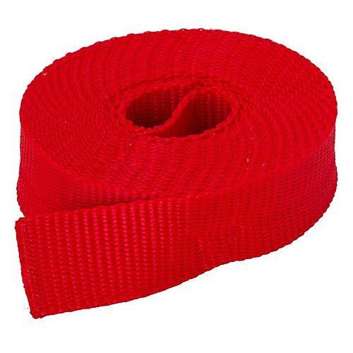 buttinette Taschengurtband, rot, Breite: 2,5 cm, Länge: 3 m