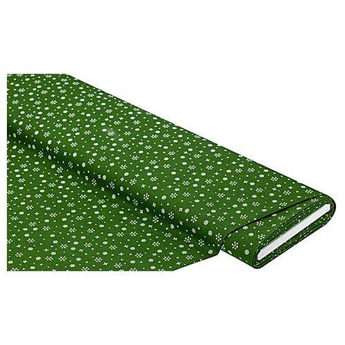 """Baumwollstoff Kristalle """"Mona"""", grün/weiß"""