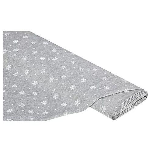 """Dekostoff """"Schneekristalle"""", grau, 180 cm"""