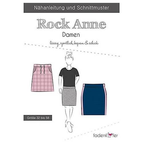 """Fadenkäfer Schnitt """"Rock Anne"""" für Damen"""