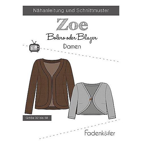 """Fadenkäfer Schnitt """"Bolero oder Blazer Zoe"""" für Damen"""