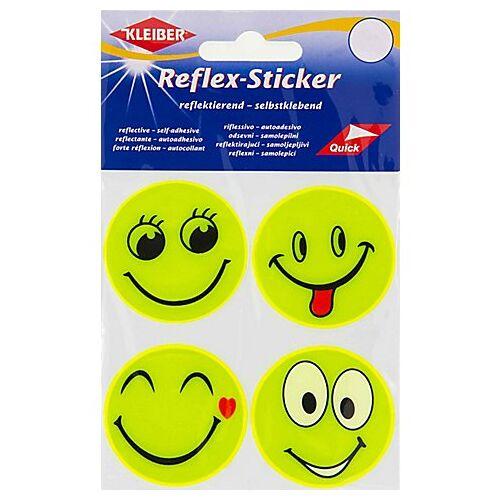 """Kleiber Reflex-Sticker """"Emoji"""", 5 cm Ø, 4 Stück"""