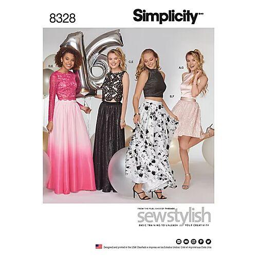 """Simplicity Schnitt 7969 """"Abendkleid zweiteilig"""""""