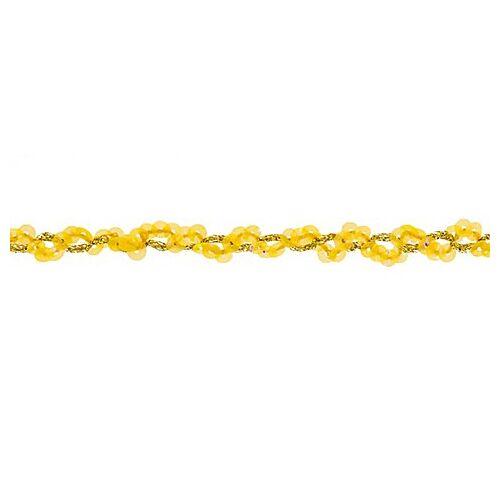 Paillettenborte, gelb, 15 mm, 3 m