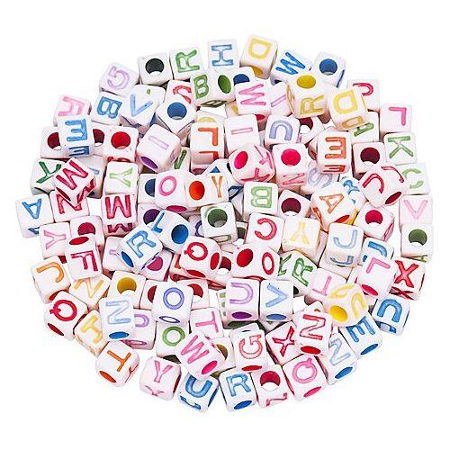 Buchstabenwürfel, bunt, 6 mm, 160 Stück